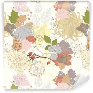 Fotomurales mexico papeles pintados de fondo sin fisuras con el ornamento botanico abstracto - Fotomurales & Papel Tapiz Infantiles
