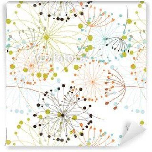 Fotomurales mexico papeles pintados fondo floral sin fisuras 500x500 - Papel Tapiz Diente de León Fondo Blanco 01