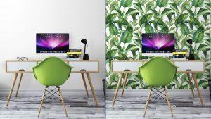 Fotomurales mexico papeles pintados fondo inconsutil de la acuarela con hojas tropicales 3 300x169 - Papel Tapiz