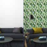 Fotomurales-mexico-papeles-pintados-fondo-inconsutil-de-la-acuarela-con-hojas-tropicales 6