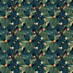 Fotomurales-mexico-papeles-pintados-fondo-transparente-de-colores-tropicales-brillantes-con-hojas-y 1