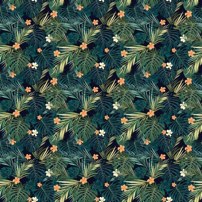 Fotomurales mexico papeles pintados fondo transparente de colores tropicales brillantes con hojas y 1 - Papel Tapiz Hojas Tropicales 01