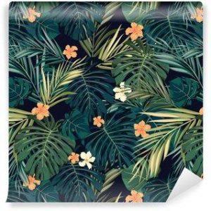 Fotomurales mexico papeles pintados fondo transparente de colores tropicales brillantes con hojas y 300x300 - Papel Tapiz
