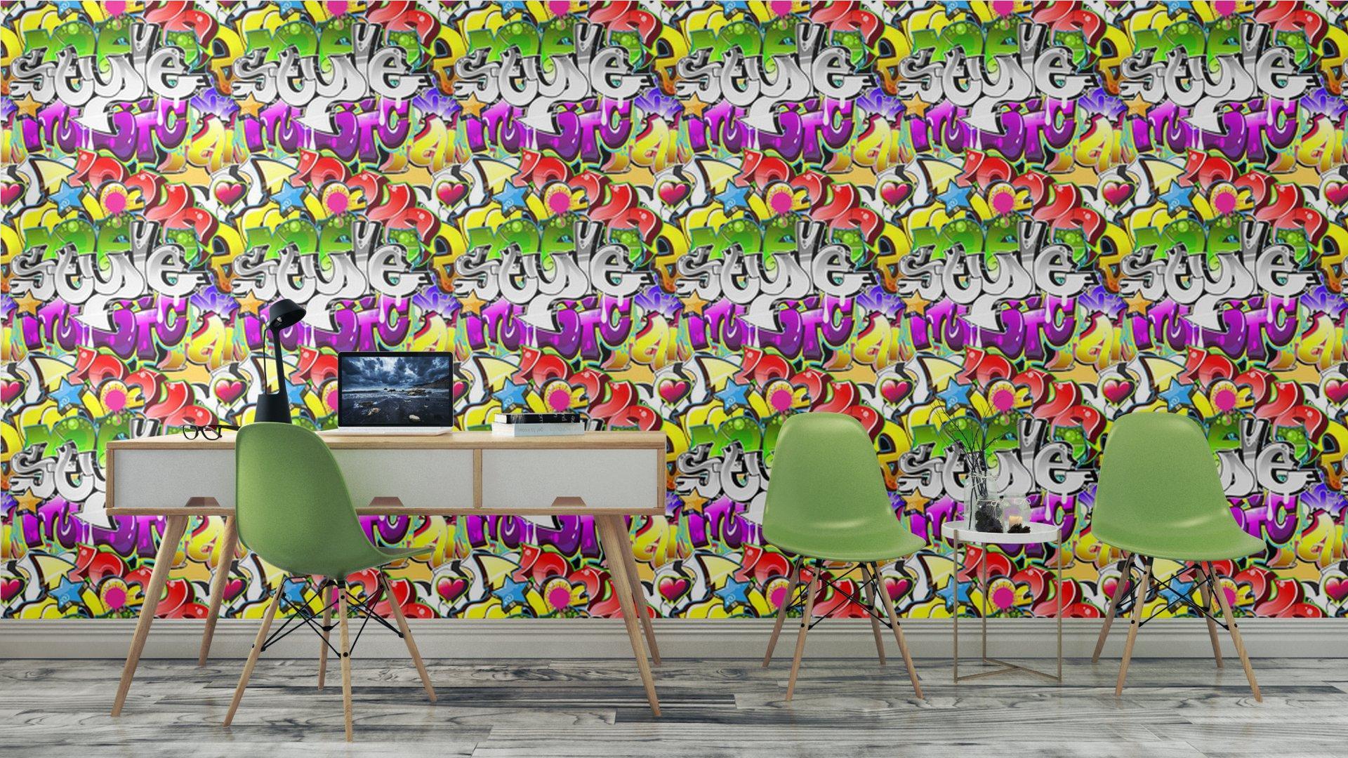 Fotomurales mexico papeles pintados graffiti urbano tecnica diseno sin costuras 6 - Papel Tapiz Graffiti Urbano 01