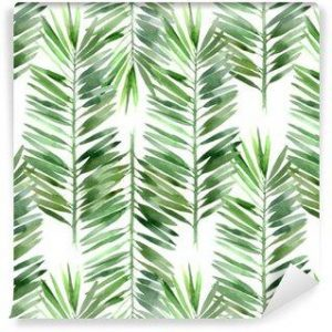 Fotomurales mexico papeles pintados lavables acuarela hoja de palmera sin fisuras 300x300 - Papel Tapiz