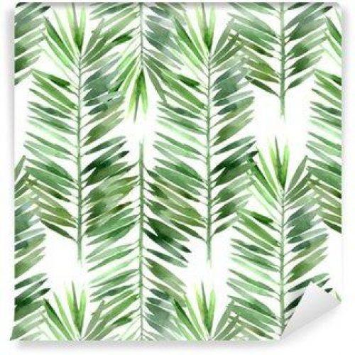 Fotomurales mexico papeles pintados lavables acuarela hoja de palmera sin fisuras 500x500 - Fotomurales Papel Tapiz Tropical y Naturaleza