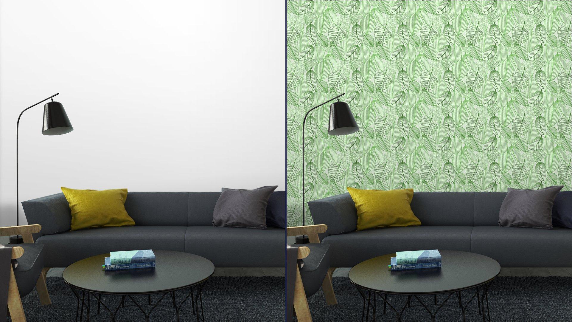 Fotomurales mexico papeles pintados lavables el verde deja el fondo sin patron 5 - Papel Tapiz Patrón Hojas Verdes en Fondo Blanco 02