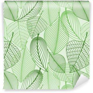 Fotomurales mexico papeles pintados lavables el verde deja el fondo sin patron - Papel Tapiz Patrón Hojas Verdes en Fondo Blanco 02