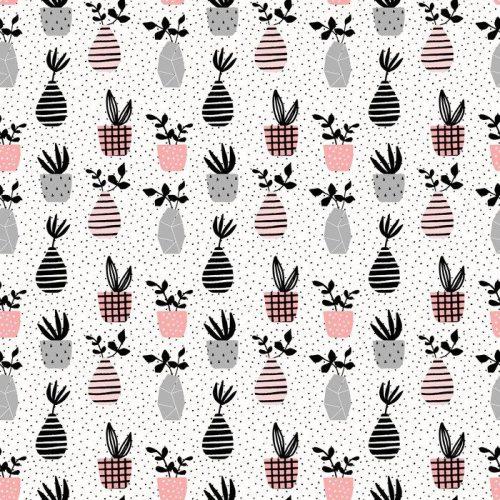 Fotomurales mexico papeles pintados lavables floreros y potes modelo inconsutil 1 500x500 - Papel TapizMacetas con Puntos en Fondo Blanco