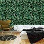 Fotomurales-mexico-papeles-pintados-lavables-fondo-inconsutil-de-la-acuarela-con-hojas-tropicales 2