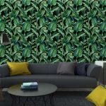 Fotomurales-mexico-papeles-pintados-lavables-fondo-inconsutil-de-la-acuarela-con-hojas-tropicales 4