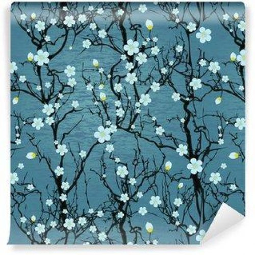 Fotomurales mexico papeles pintados lavables modelo del arbol sin fisuras flor de cerezo japones 500x500 - Fotomural Papel Tapiz Barroco y Elegantes