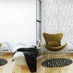 Fotomurales-mexico-papeles-pintados-lavables-modelo-geometrico-blanco-y-negro-simple-minimalista-triangulos-o-vidriera-se-puede-utilizar-como-fondo-de-pantalla-fondo-o-la-textura 3