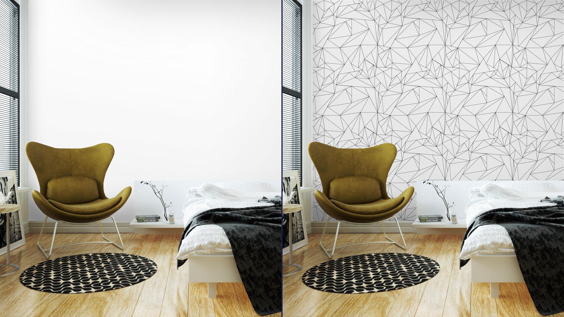 Fotomurales mexico papeles pintados lavables modelo geometrico blanco y negro simple minimalista triangulos o vidriera se puede utilizar como fondo de pantalla fondo o la textura 3 - Papel Tapiz Geométrico Minimalista Blanco Y Negro 01