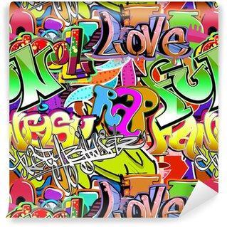 Fotomurales mexico papeles pintados lavables pared de la pintada urban background art patron sin fisuras - Papel Tapiz Graffiti Urbano 02