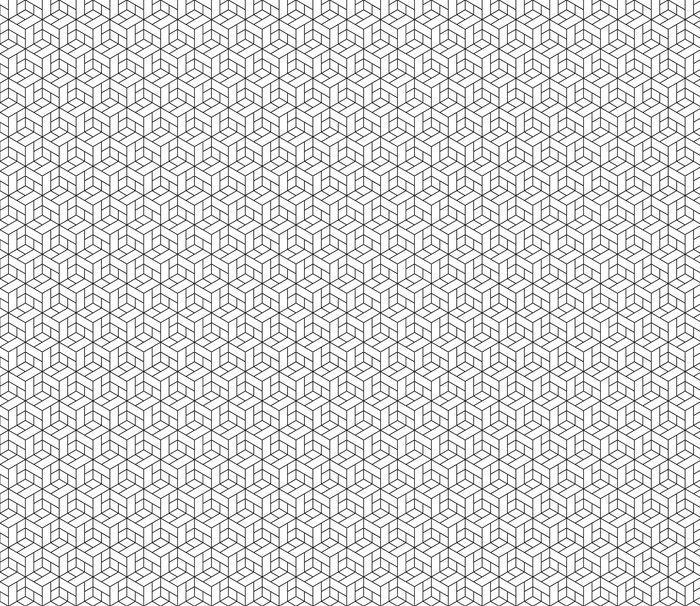 Fotomurales mexico papeles pintados lavables patron geometrico transparente con cubos 1 1 - Papel Tapiz Geométrico de Cubos 01