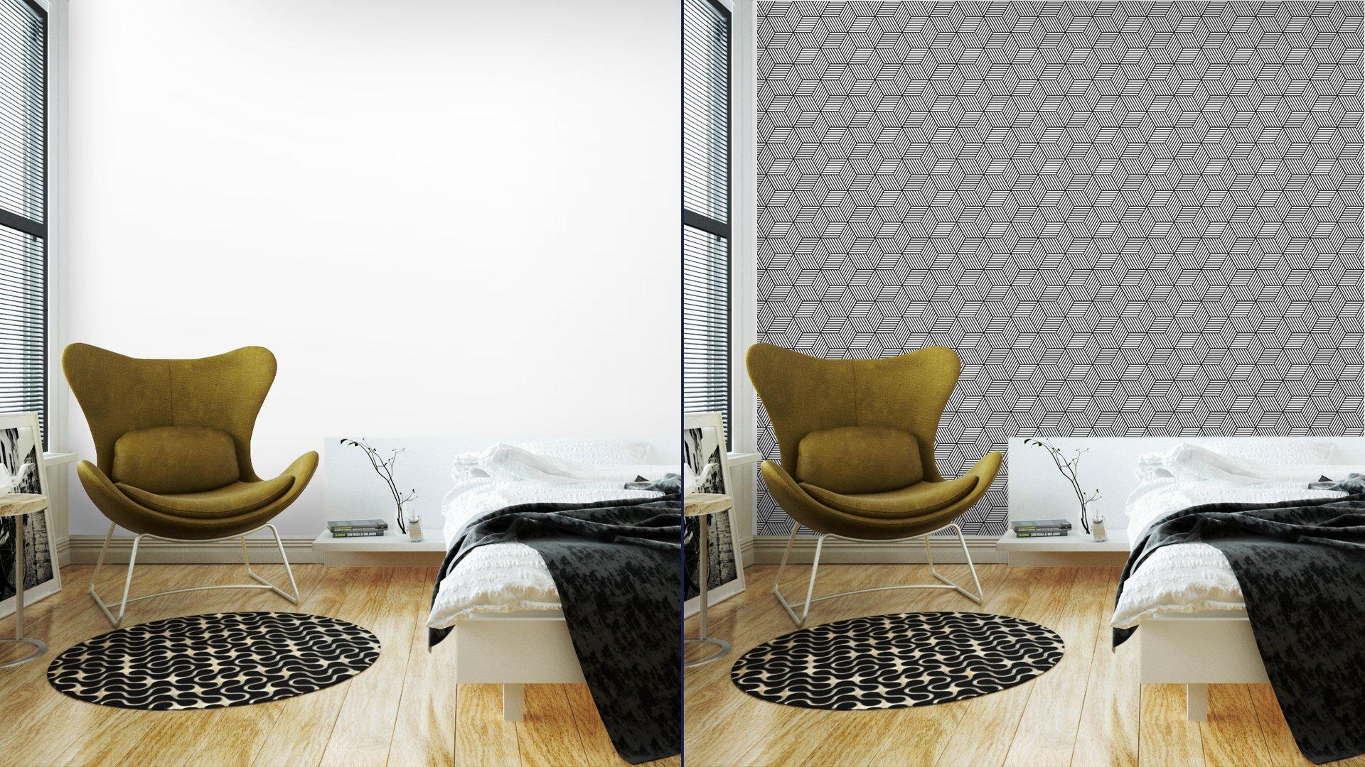 Fotomurales mexico papeles pintados lavables patron geometrico transparente con cubos 2 - Papel Tapiz Patrón de Cubos 3D 02