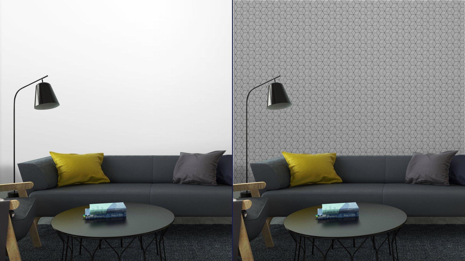 Fotomurales mexico papeles pintados lavables patron geometrico transparente con cubos 4 - Papel Tapiz Patrón de Cubos 3D 02