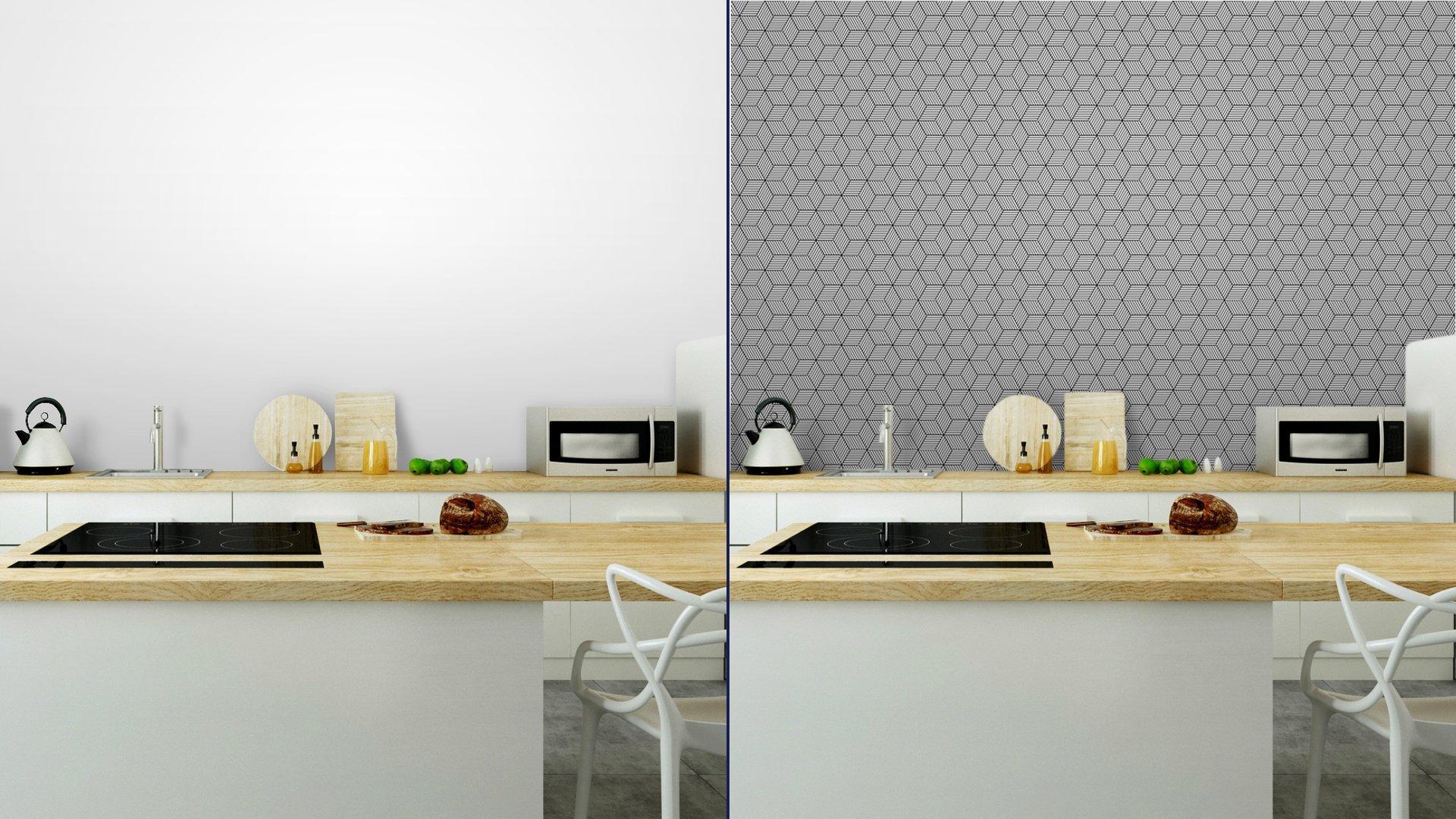 Fotomurales mexico papeles pintados lavables patron geometrico transparente con cubos 5 - Papel Tapiz Patrón de Cubos 3D 02