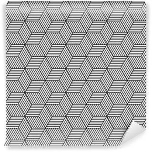 Fotomurales mexico papeles pintados lavables patron geometrico transparente con cubos 500x500 - Fotomurales Papel Tapiz Modernos y Contemporáneos