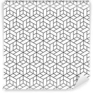 Fotomurales mexico papeles pintados lavables patron geometrico transparente con cubos 6 - Papel Tapiz Geométrico de Cubos 01