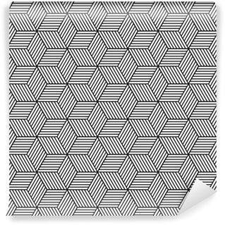 Fotomurales mexico papeles pintados lavables patron geometrico transparente con cubos - Papel Tapiz Patrón de Cubos 3D 02