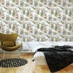 Fotomurales-mexico-papeles-pintados-lavables-pintura-de-la-acuarela-de-la-hoja-y-las-flores-patron-de-fisuras-en-el-fondo-blanco 3