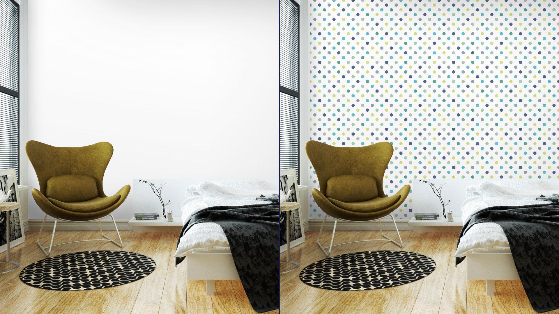 Fotomurales mexico papeles pintados lavables puntos vector patron de fondo sin fisuras lunares de colores 2 - Papel Tapiz Lunares de Colores Fondo Blanco 01