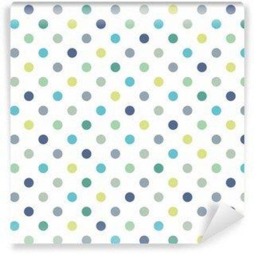 Fotomurales mexico papeles pintados lavables puntos vector patron de fondo sin fisuras lunares de colores 500x500 - Papel Tapiz Lunares de Colores Fondo Blanco 01