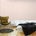 Fotomurales-mexico-papeles-pintados-lavables-sin-patron-de-color-rosa-chevron 3