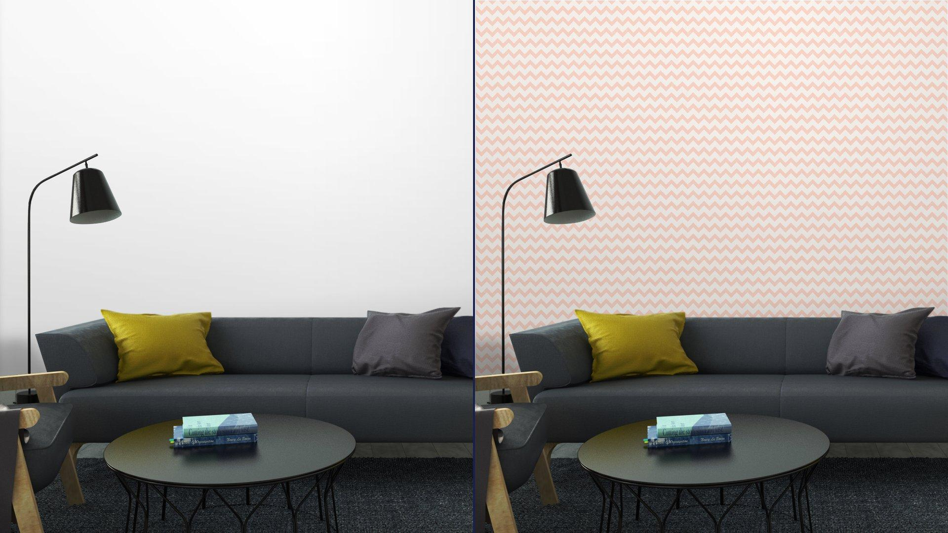 Fotomurales mexico papeles pintados lavables sin patron de color rosa chevron 5 - PapelTapizZig Zag Rosa Fondo Blanco 01