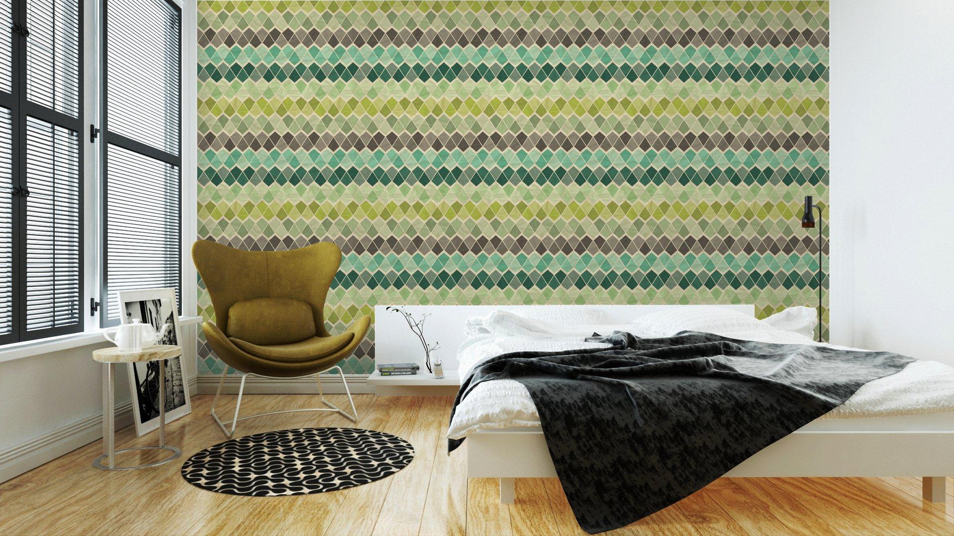 Fotomurales mexico papeles pintados lavables sin patron geometrico retro 3 - Papel Tapiz Patrón Geométrico Triángulo 05