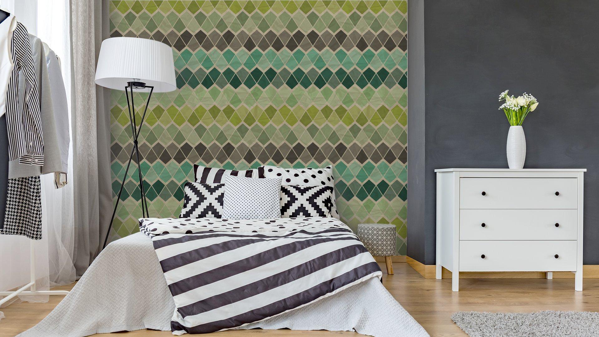 Fotomurales mexico papeles pintados lavables sin patron geometrico retro 4 - Papel Tapiz Patrón Geométrico Triángulo 05