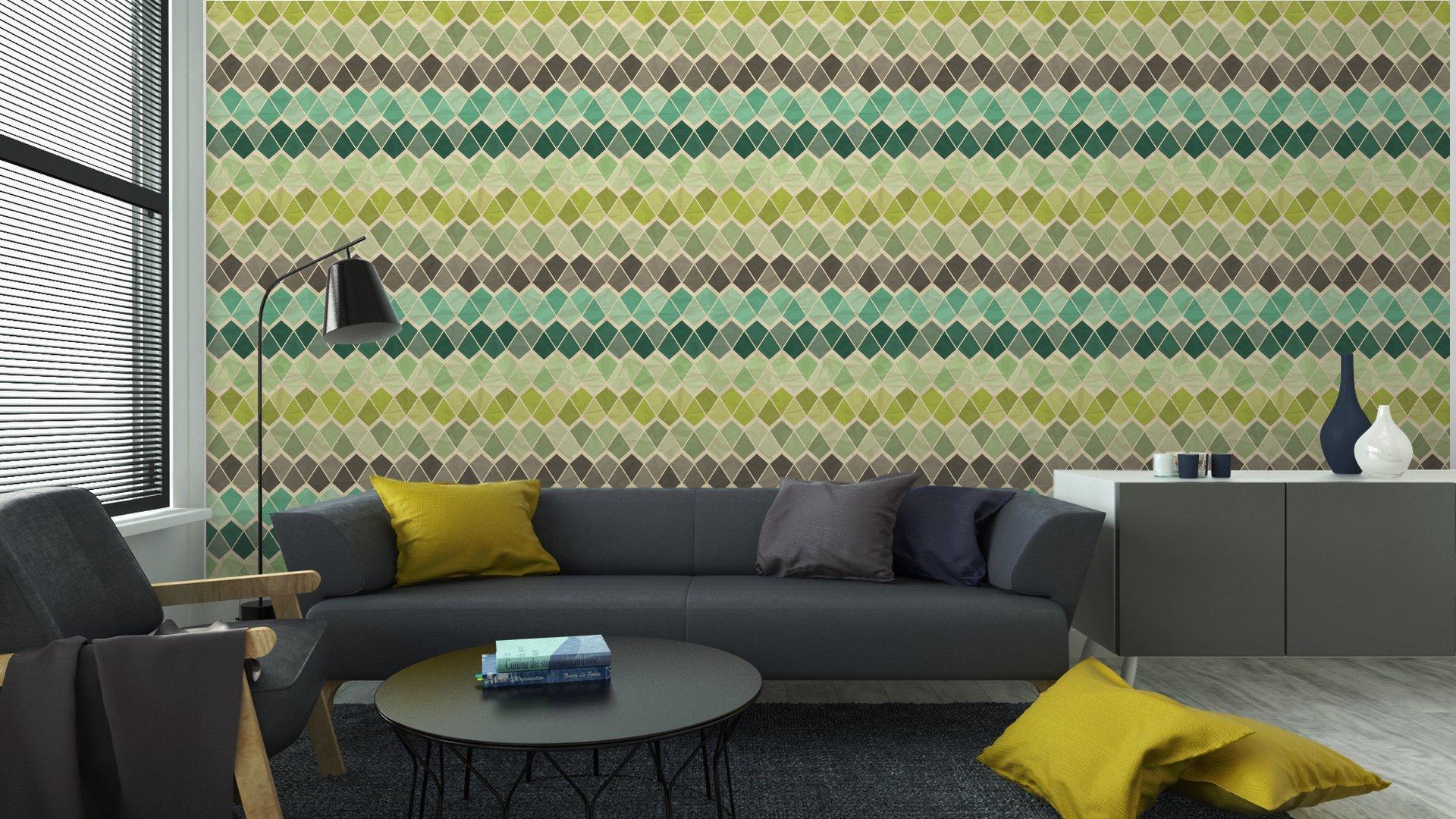 Fotomurales mexico papeles pintados lavables sin patron geometrico retro 6 - Papel Tapiz Patrón Geométrico Triángulo 05