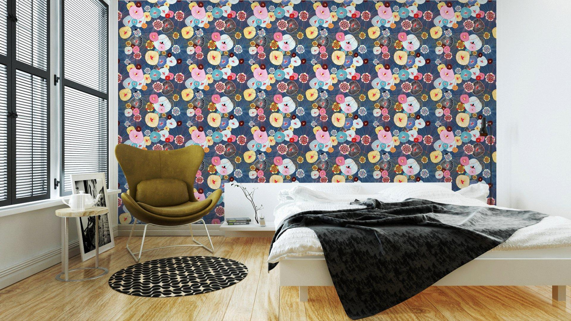 Fotomurales mexico papeles pintados lavables textura abstracta 2 1 - Papel Tapiz Floral Textura Abstracta 01