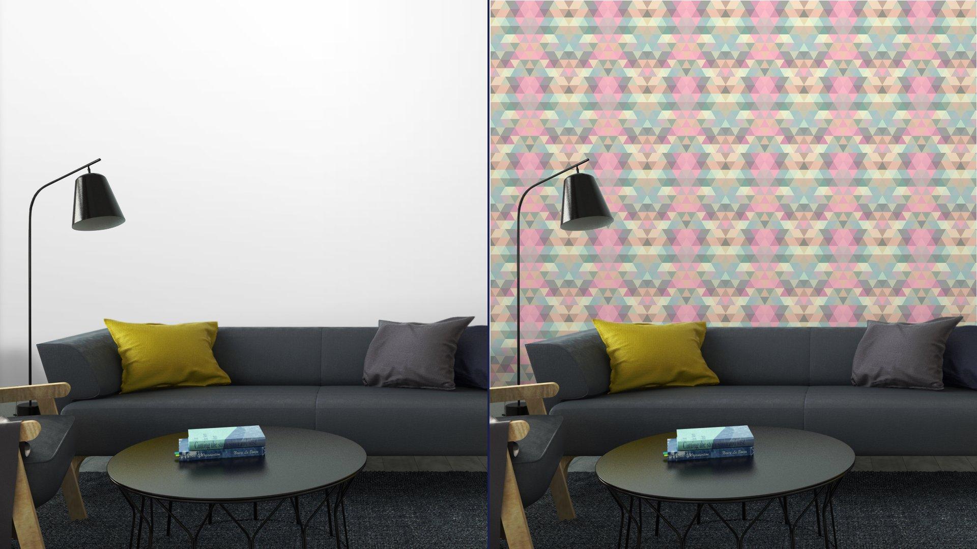 Fotomurales mexico papeles pintados lavables triangulo fondo de mosaico fondo geometrico 6 - Papel Tapiz Patrón Geométrico Triángulo 04