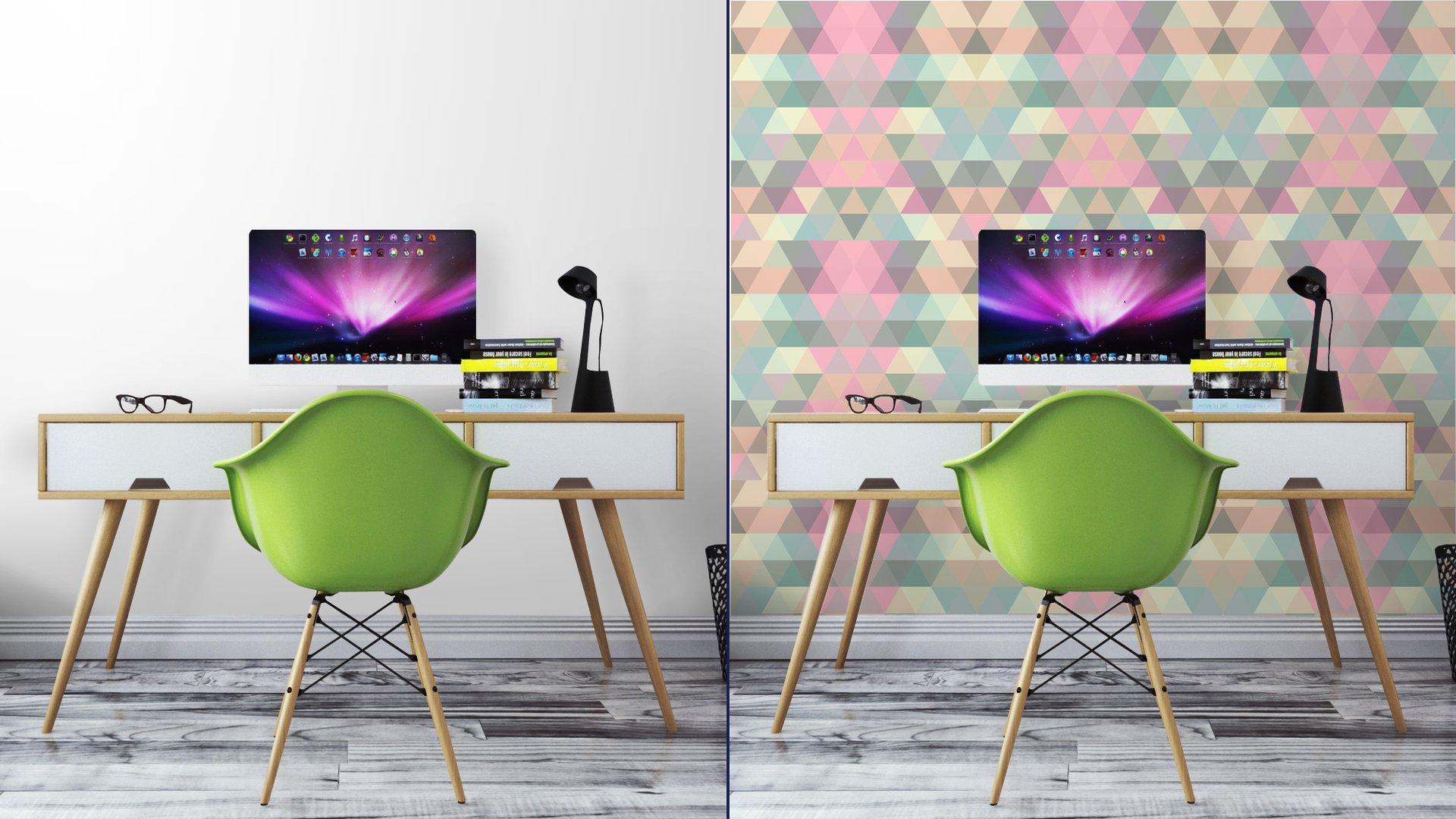 Fotomurales mexico papeles pintados lavables triangulo fondo de mosaico fondo geometrico 7 - Papel Tapiz Patrón Geométrico Triángulo 04