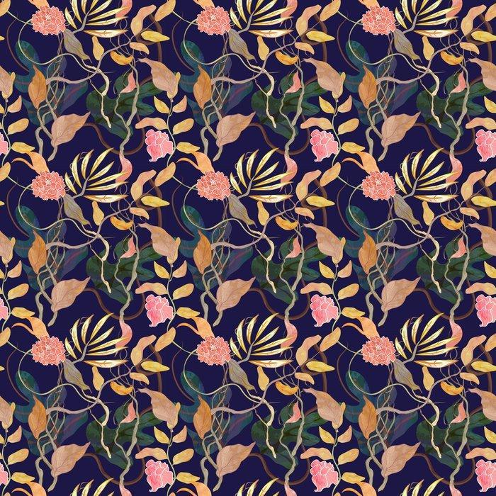 Fotomurales mexico papeles pintados modelo inconsutil de la moda con el tema del puerto plantas watecolor 1 - Papel Tapiz Patrón Floral Vintage 01