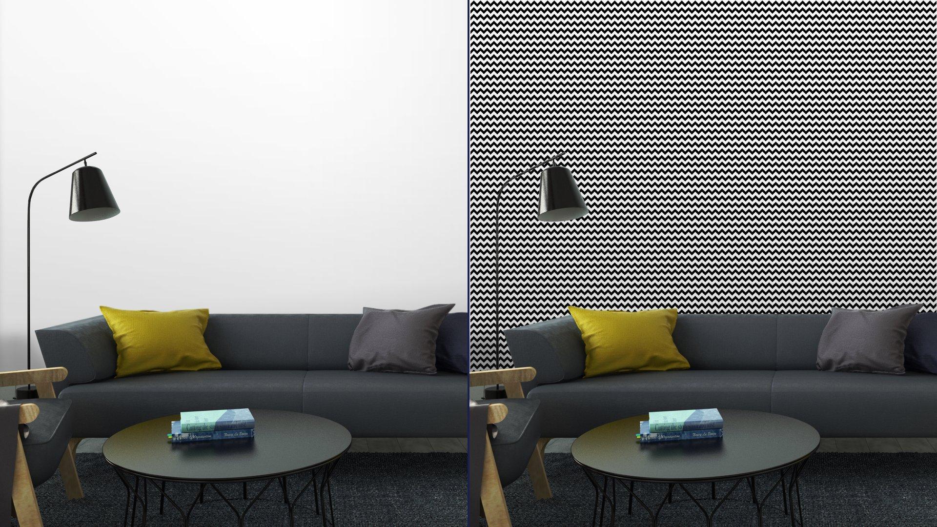 Fotomurales mexico papeles pintados resumen sin patron geometrico zigzag vector 5 - Papel Tapiz Patrón Zigzag Blanco y Negro
