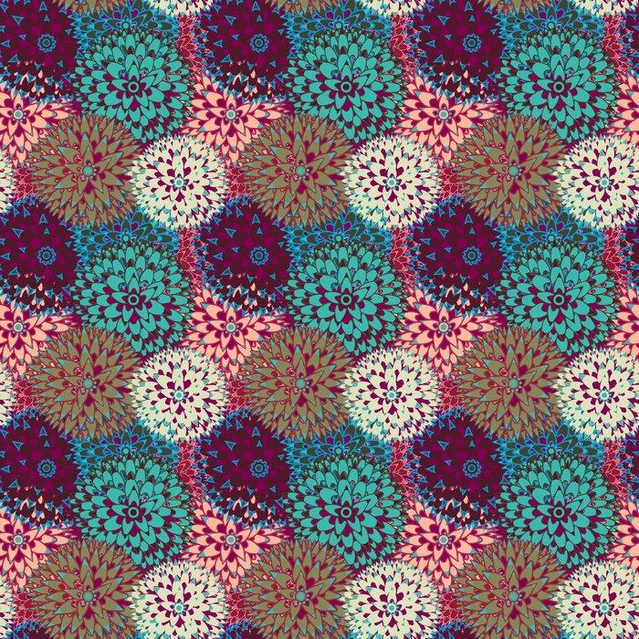 Fotomurales mexico papeles pintados sin fisuras vector patron 1 - Papel Tapiz Flores Multicolor 01