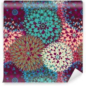 Papel Tapiz Flores Multicolor 01
