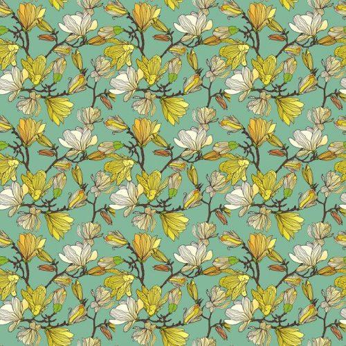 Fotomurales mexico papeles pintados textura floral sin fisuras 1 500x500 - Papel Tapiz Patrón Floral en Fondo Azul Tipo Vintage 01
