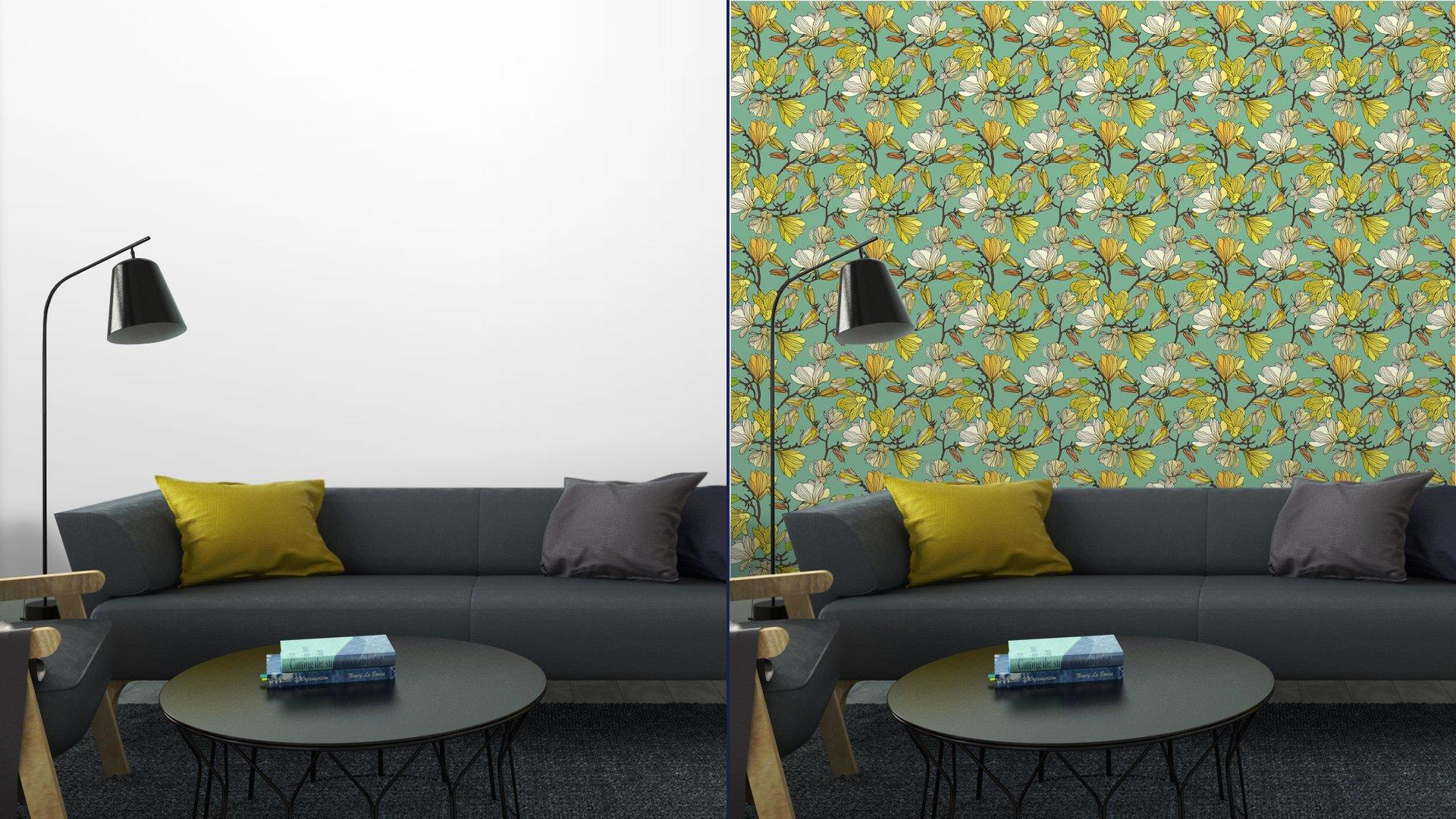 Fotomurales mexico papeles pintados textura floral sin fisuras 7 - Papel Tapiz Patrón Floral en Fondo Azul Tipo Vintage 01