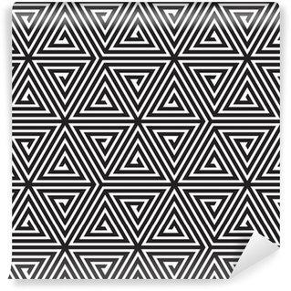 Fotomurales mexico papeles pintados triangulos blanco y negro modelo geometrico abstracto inconsutil - Papel Tapiz