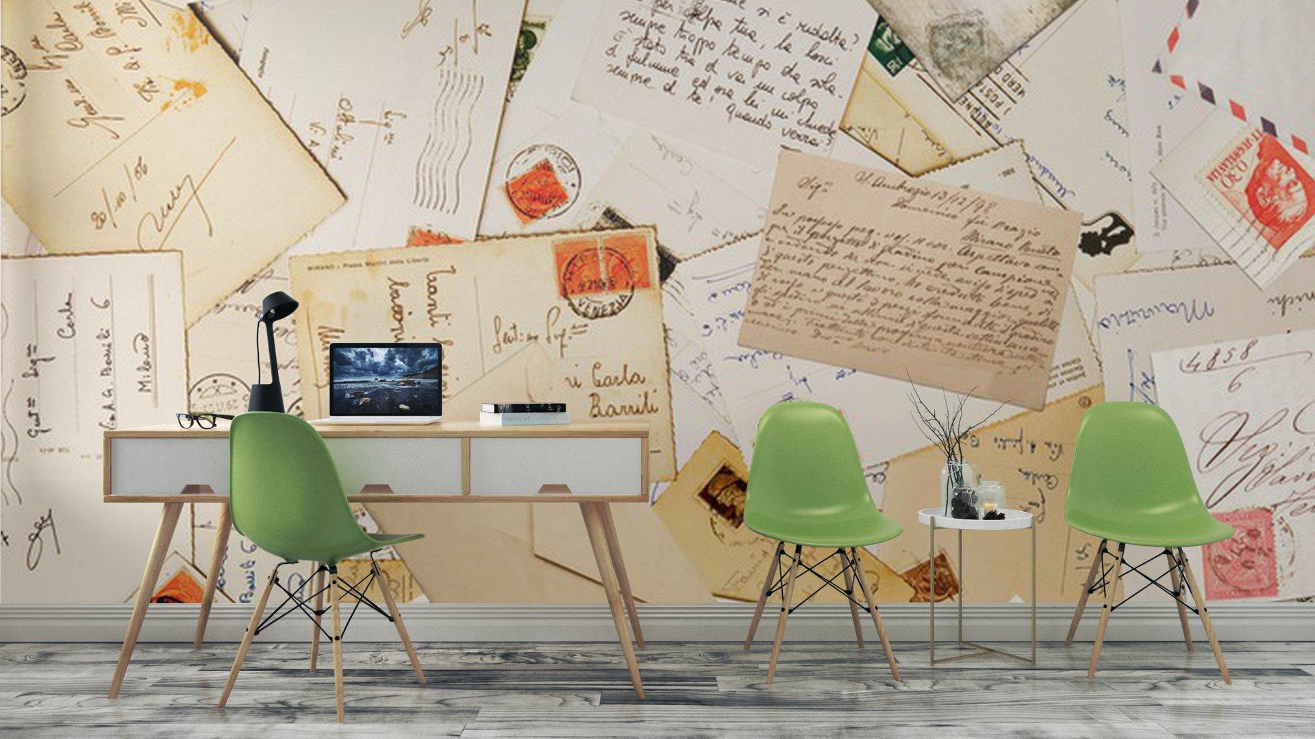 POCA A JUEGO3 - Fotomural Tapiz Sobres de Cartas