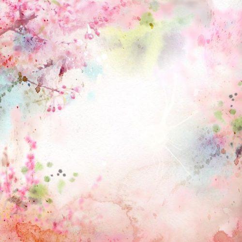 ACUARELA DE FONDO ESCÉNICO COMPOSICIÓN FLORAL SAKURA 500x500 - Fotomural Tapiz Composición Floral Sakura Tipo Acuarela