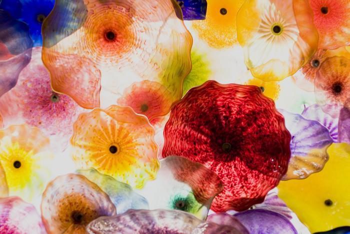 ARTE EN VIDRIO - Fotomural Tapiz Patrón Floral 01