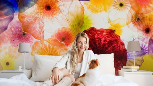 ARTE EN VIDRIO1 500x281 - Fotomural Tapiz Patrón Floral 01
