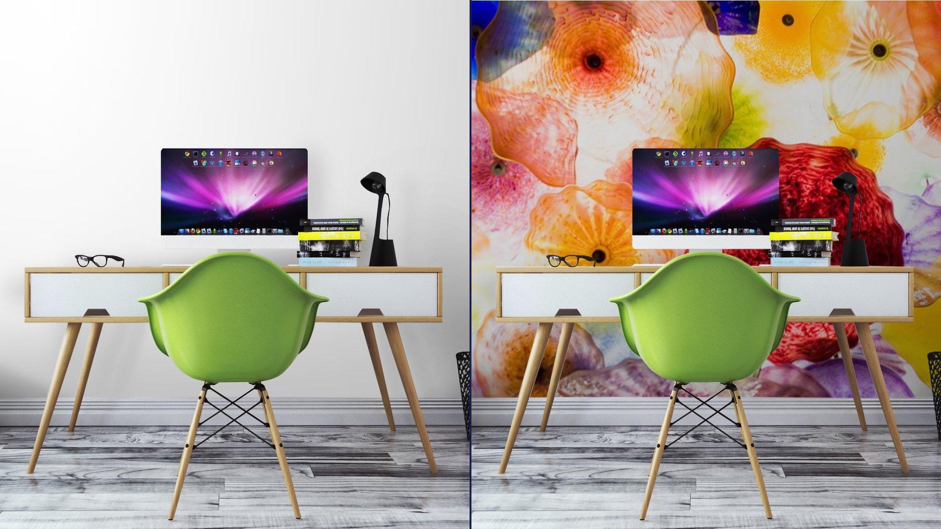 ARTE EN VIDRIO9 - Fotomural Tapiz Patrón Floral 01