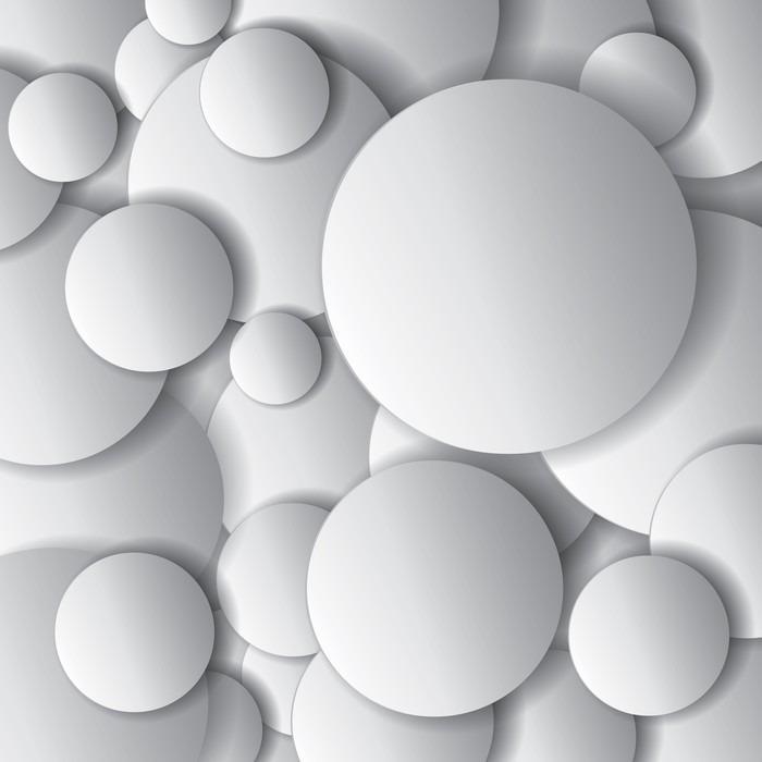 CÍRCULOS DEL VECTOR OBJETOS MÍNIMOS VECTOR COMPOSICIÓN ABSTRACTA DEL DISEÑO - Fotomural Tapiz Tipo Abstracto de Círculos